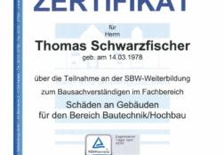 SBW Zertifikat Schäden