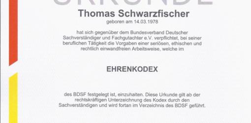 Urkunde Ehrenkodex