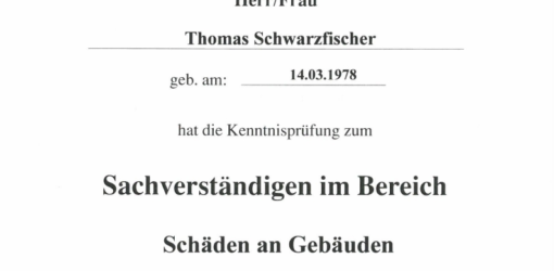Zertifikat VfB Schäden