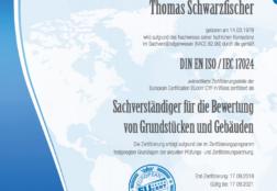 Zertifikat DIN EN ISO/IEC 17024